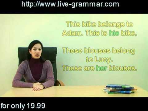 Live Grammar Programme (English Version): possessive determiners