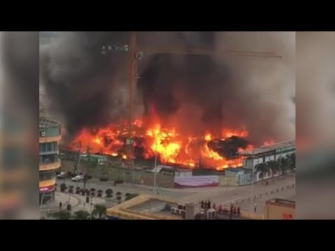 Huge fire breaks out in Chengdu, SW China's Sichuan