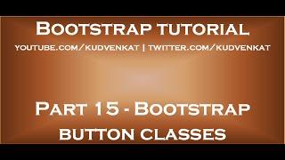 Bootstrap button classes