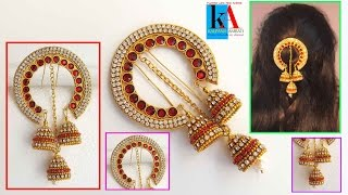 How to make 5 minutes Hair accessories | latest jewellery Model No 1 thumbnail