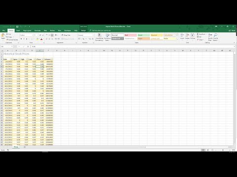 How to import historical stock prices into Excel?