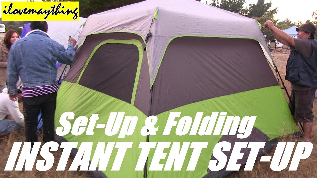 & OZARK Instant Camping Tent (Set-up and Folding Video) - YouTube