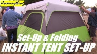 OZARK Instant Camping Tent (Set-up and Folding Video)