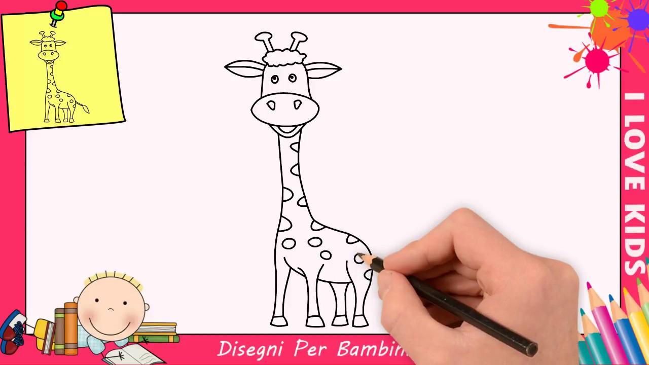 Come Disegnare Una Giraffa Facile Passo Per Passo Per Bambini 2