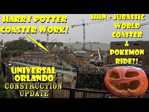 Universal Orlando Resort Construction Update 8.28.18 Jurassic / Pokemon Rumors, Potter / HHN Work Mp3