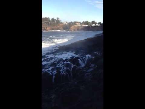 Spouting horn. Depoe Bay Oregon.