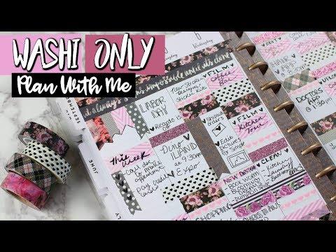 WASHI TAPE ONLY!  Plan With Me | Belinda Selene