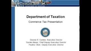 Nevada Commerce Tax Information