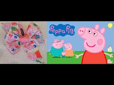 Como hacer un lazo mo o de peppa pig tutorial - Como hacer manualidades faciles ...
