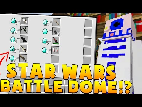 Minecraft OP STAR WARS MODDED BATTLEDOME CHALLENGE - Minecraft Mod
