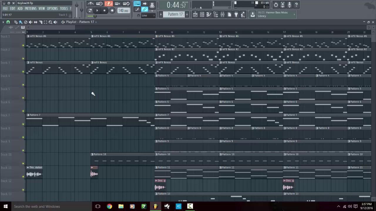 fl studio 12 playlist pattern