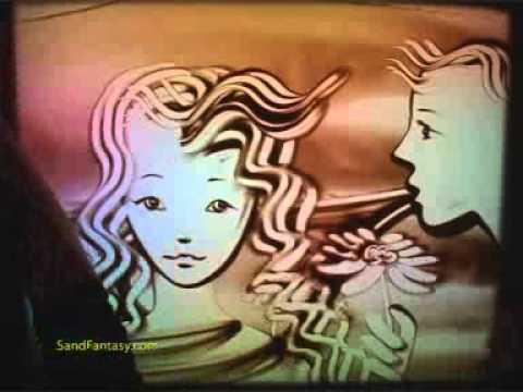 Sand art by ilana yahav making of behind the scenes youtube.