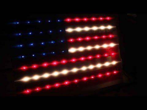 How To Make A Light Up Decorative Flag  🇺🇸