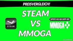Preisvergleich Steam vs. MMOGA! Hier kauft man Games günstiger!