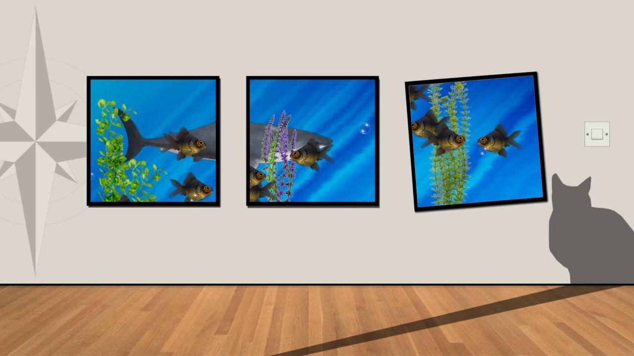 65 cuadros con peces en movimiento animados youtube - Cuadros con peces ...