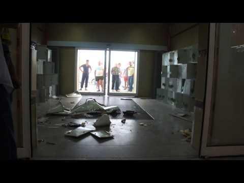 Взрыв газового баллона в  ВТД & Колорлон (Новосибирск)