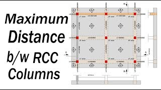 Maximum distance between two RCC columns? - Civil Engineering Videos