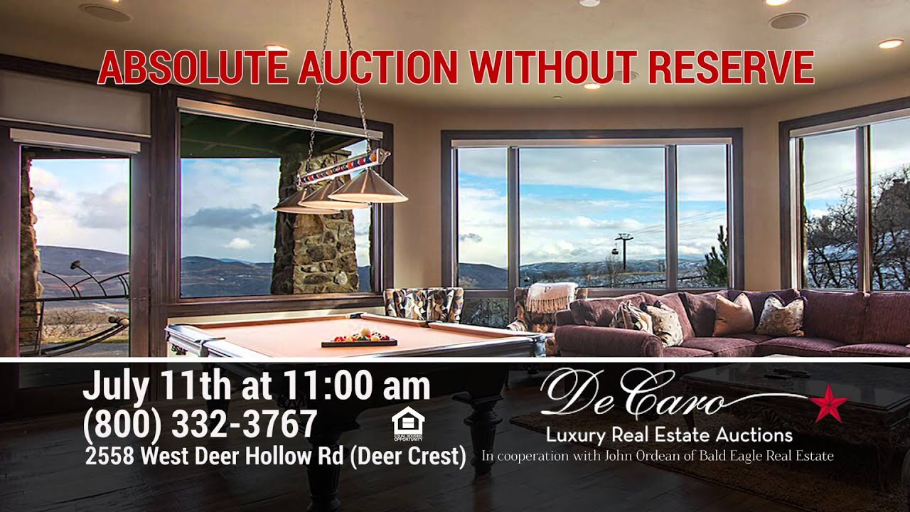 de caro real estate auction deer crest july 11 2015 youtube