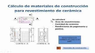 20.- Cálculo de materiales de construcción para revestimiento de cerámica TCICF20