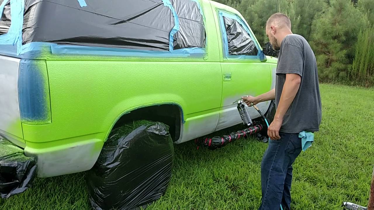 U-Pol Raptor Liner paint works awesome. - YouTube