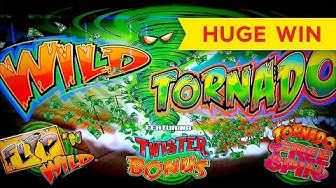 Wild Tornado Slot - INCREDIBLE HIT - BIG WIN BONUS!