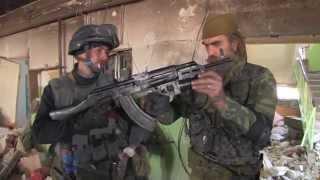 Глазами ополченцев обзор боев за аэропорт Донецк HD 2014