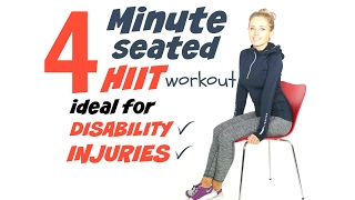 4 MINUTE CHAIR WORKOUT -IDEAL FOR DISABILITY OR INJURIES