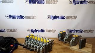 Hydraulic valve 6 functions 120l/min (33GPM) Full proportional 24 V  Crane + Scanreco RC400 RRC with 6 functions video