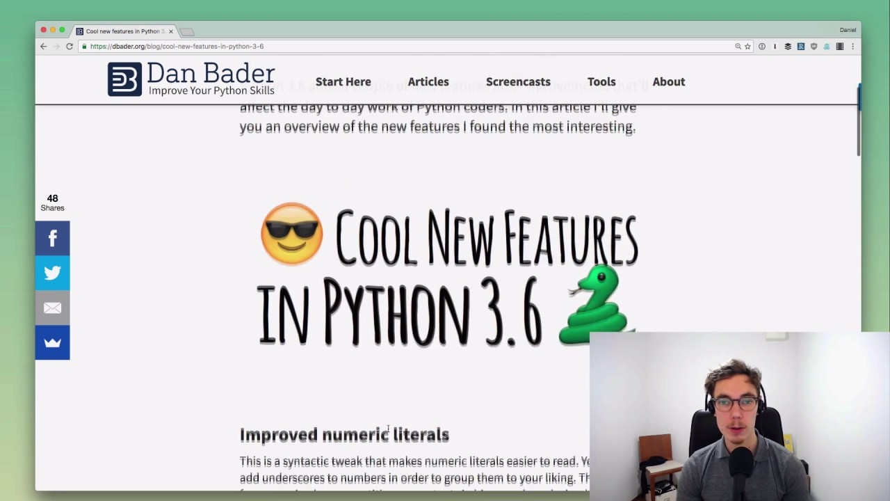 Cool new features in Python 3 6 – dbader org