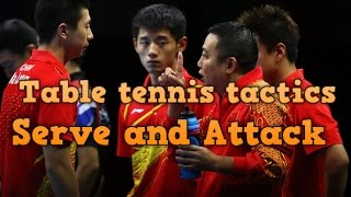 table tennis serve and attack | chinese playing style