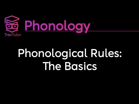 [Phonology] SPE Phonological Rules