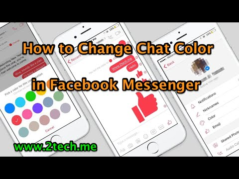 How To Change Chat Color In Facebook Messenger