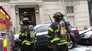 FDNY BOX 1269 - FDNY RESPONDING TO & BATTLING A 4TH ALARM FIRE IN MULTIPLE DWELLING ON 101ST STREET.