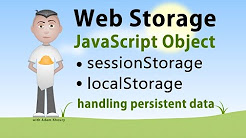 JavaScript Storage Interface sessionStorage localStorage Tutorial