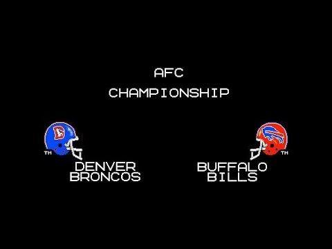 Tecmo Super Bowl - Broncos vs Bills - 1991 AFC Championship