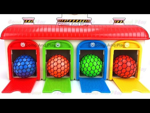 Thumbnail: Learn Colors Tayo the Little Bus Slime Balls Play Foam Smiley Face Surprise Toys Disney Superhero