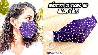 DIY MÁSCARA DE TECIDO 3D – MOLDE FÁCIL