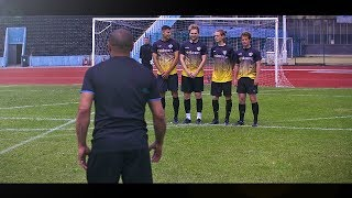 freekickerz vs Roberto Carlos  Free Kick Shootout