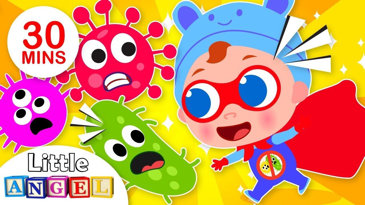 Super Baby John Defeats Germs   +More Nursery Rhymes ...