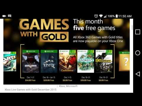 Free Games With Gold Xbox One And Xbox 360 December 2015