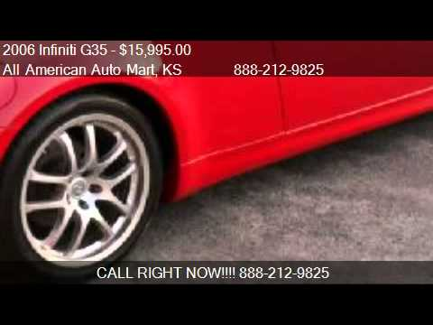 2006 infiniti g35 coupe 6mt for sale in olathe ks 66061 youtube. Black Bedroom Furniture Sets. Home Design Ideas