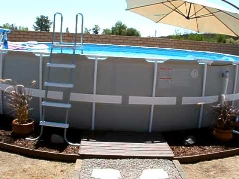 Intex 24 39 metal frame pool youtube - Steel frame pool ...