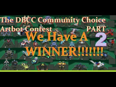 Robocraft - The DBCC Community Choice Artbot Contest Part 2, with WINNERS!
