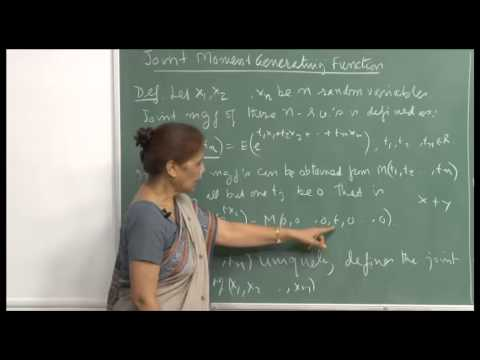 Mod-01 Lec-23 Strong law of large numbers, Joint mgf.