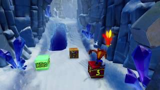 Crash Bandicoot 2 (N-Sane Trilogy) - Level 2: Snow Go (Crystal/Gem)