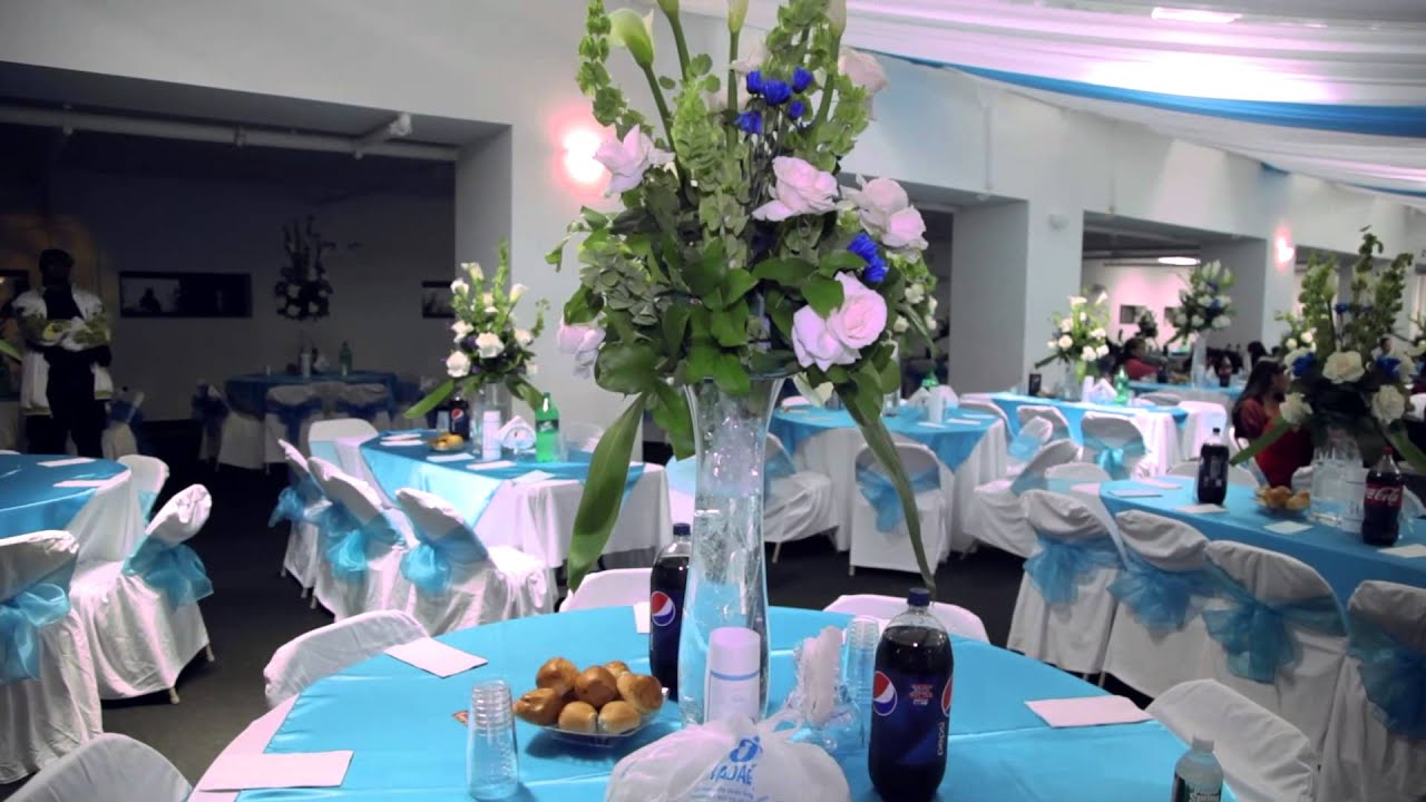 Decoracion de flores para bodas youtube for Arreglos para boda en salon