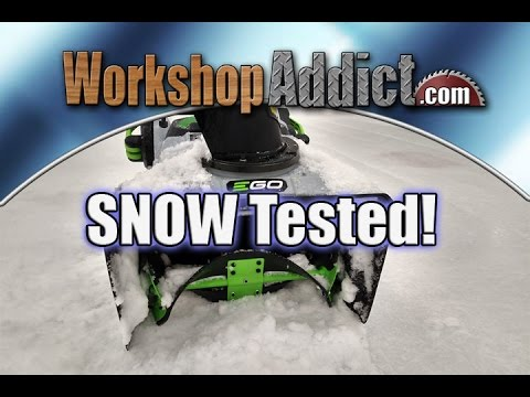 """EGO 21"""" 56-Volt Lithium-Ion Single Stage Snow Blower Review"""