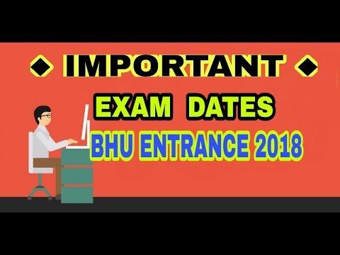 BHU Entrance 2018 exam dates  UET