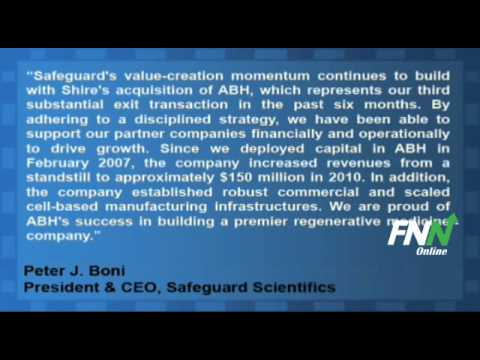 Safeguard Scientifics Partner Advanced BioHealing Agreed To Sell Itself To Shire Plc