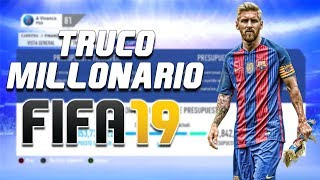 TRUCO | MUCHO DINERO EN FIFA 19 para MODO CARRERA | MILLONARIO